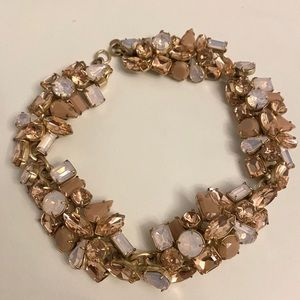 Jcrew pink crystal necklace